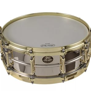 "Ludwig LB454AKD 1930 ""Standard"" Reissue 5x14"" Nickel-Plated Brass Snare with Brass Hardware"