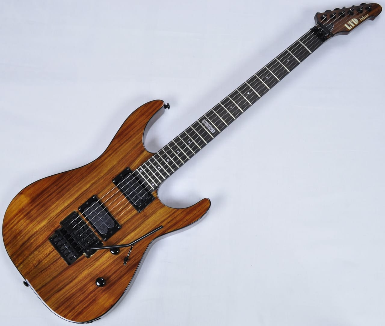 esp ltd deluxe m 1000 koa top guitar in natural reverb. Black Bedroom Furniture Sets. Home Design Ideas