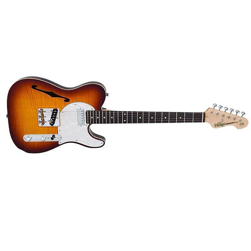 Vintage V72 Custom Singlecut Semi-Hollow Electric Guitar