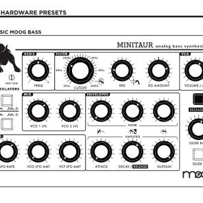 Moog Minitaur Hardware Presets