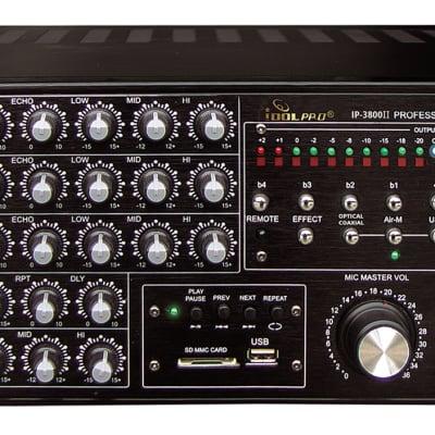 IDOLpro IP-3800 II 1300W Professional Digital Echo Mixing Amplifier W/ Optical inputs
