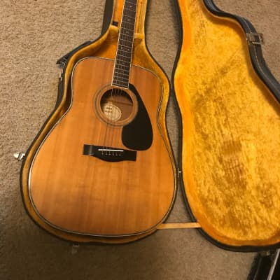 YAMAHA FG-461S Dreadnought Acoustic Guitar 1980s made in Taiwan excellent-mint with hard case for sale