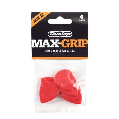 Dunlop Max Grip® Jazz III Nylon 6-Pack