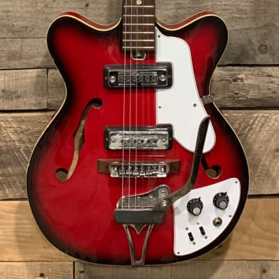 Vintage mid 1960's HY-LO  EP-8T  Hollow body Red burst Rare Hoshino Gakki Pre Ibanez   Teisco EP-8T for sale