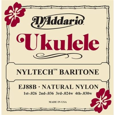 D'Addario EJ88B Nyltech Ukulele Strings - Baritone