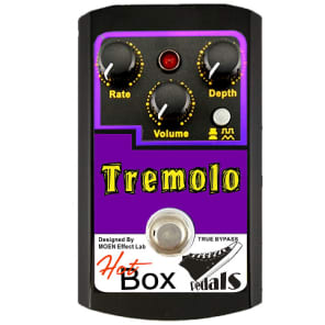 Hot Box Pedals Canada HB-TR TREMOLO Analog Tremolo Guitar Effect Pedal True Bypass Superb Quality