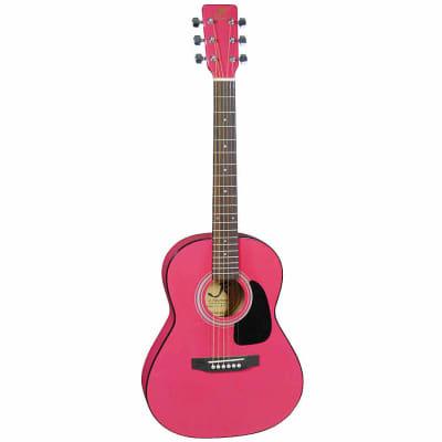 J Reynolds JR14PK 36-Inch 6-String Classical Acoustic Guitar - Pink for sale
