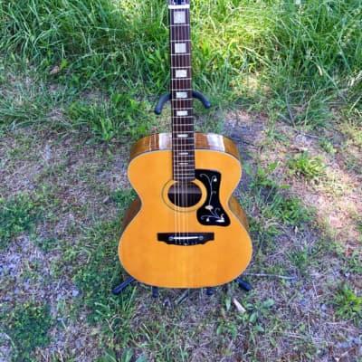 Rare Vintage Solid Wood MIJ Estrada Deluxe Japan acoustic guitar OM Martin copy  1970s Guild F-47 for sale