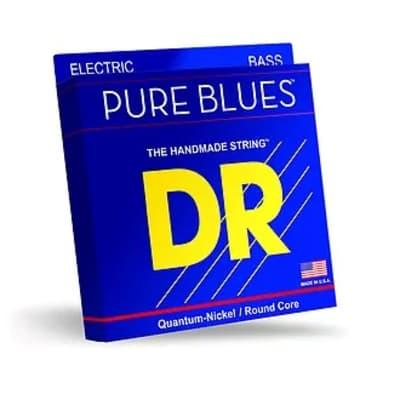DR Strings PB5-45 PURE BLUES, Quantum Nickel Bass 5-String, Medium 45-125