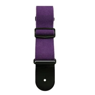 "Sims Music 2"" Cotton Guitar Strap, Purple"