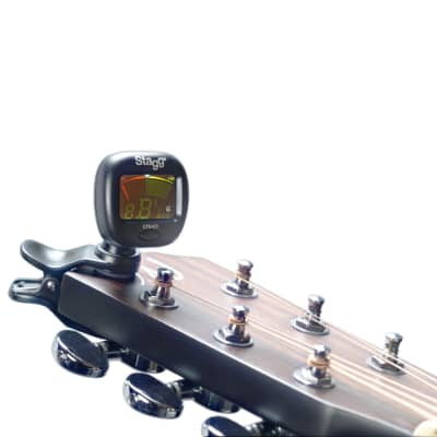 Stagg CTU-C3 Black Chromatic Clip On Tuner For Guitar or Bass and all  Other Instruments