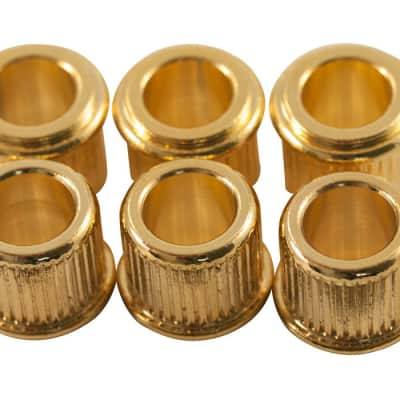 GOLD GIBSON ADAPTER BUSHING SET 6 CONVERT 10mm TO 8mm TUNER HOLE GIBSON EPIPHONE