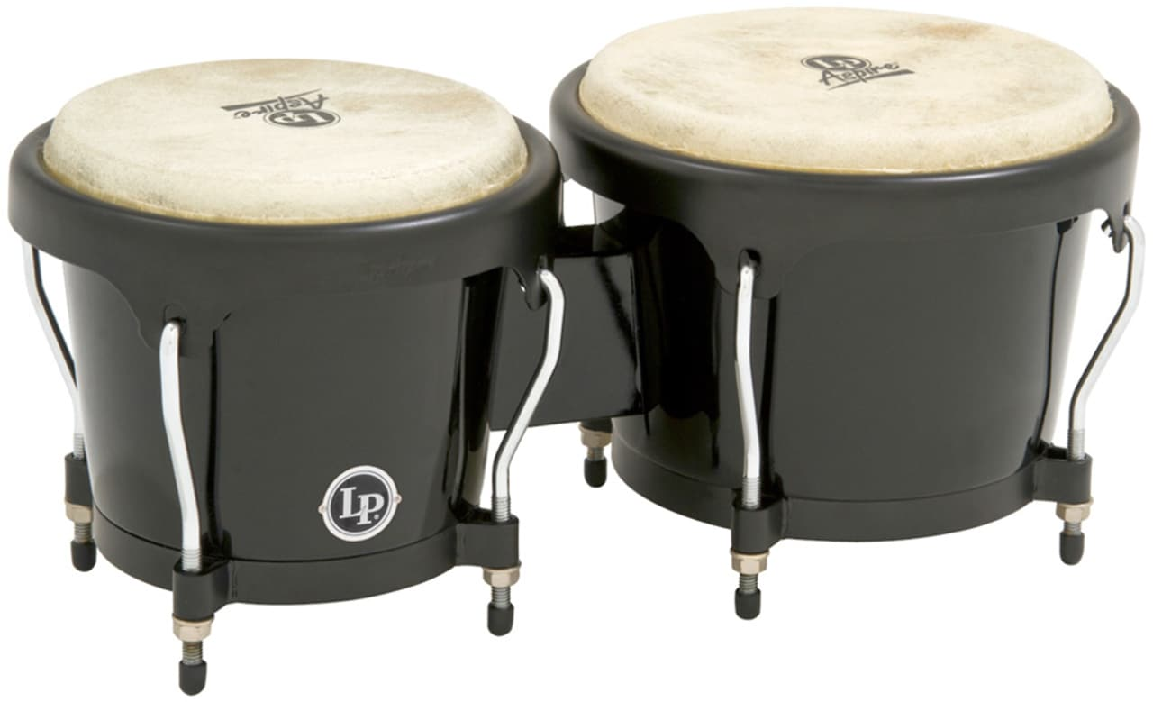 lp latin percussion aspire fiberglass bongos black 6 3 4 and reverb. Black Bedroom Furniture Sets. Home Design Ideas