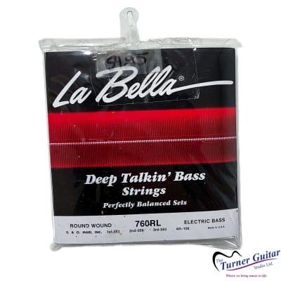"La Bella Deep Talkin Bass -  Round Wound Stainless Steel Electric Bass Strings - Light Gauge (41-106) - Medium Scale (32"")"