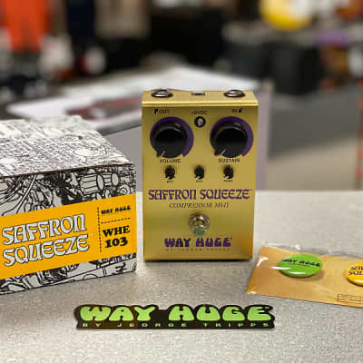 NEW Way Huge WHE103 Saffron Squeeze Compressor Pedal