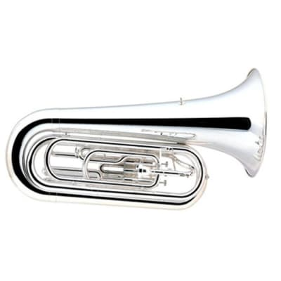Yamaha YBB105MS BBb Standard Silver Plated Marching Tuba