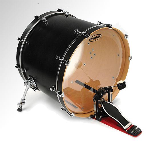18 evans non level 360 eq2 clear bass drum head head reverb. Black Bedroom Furniture Sets. Home Design Ideas