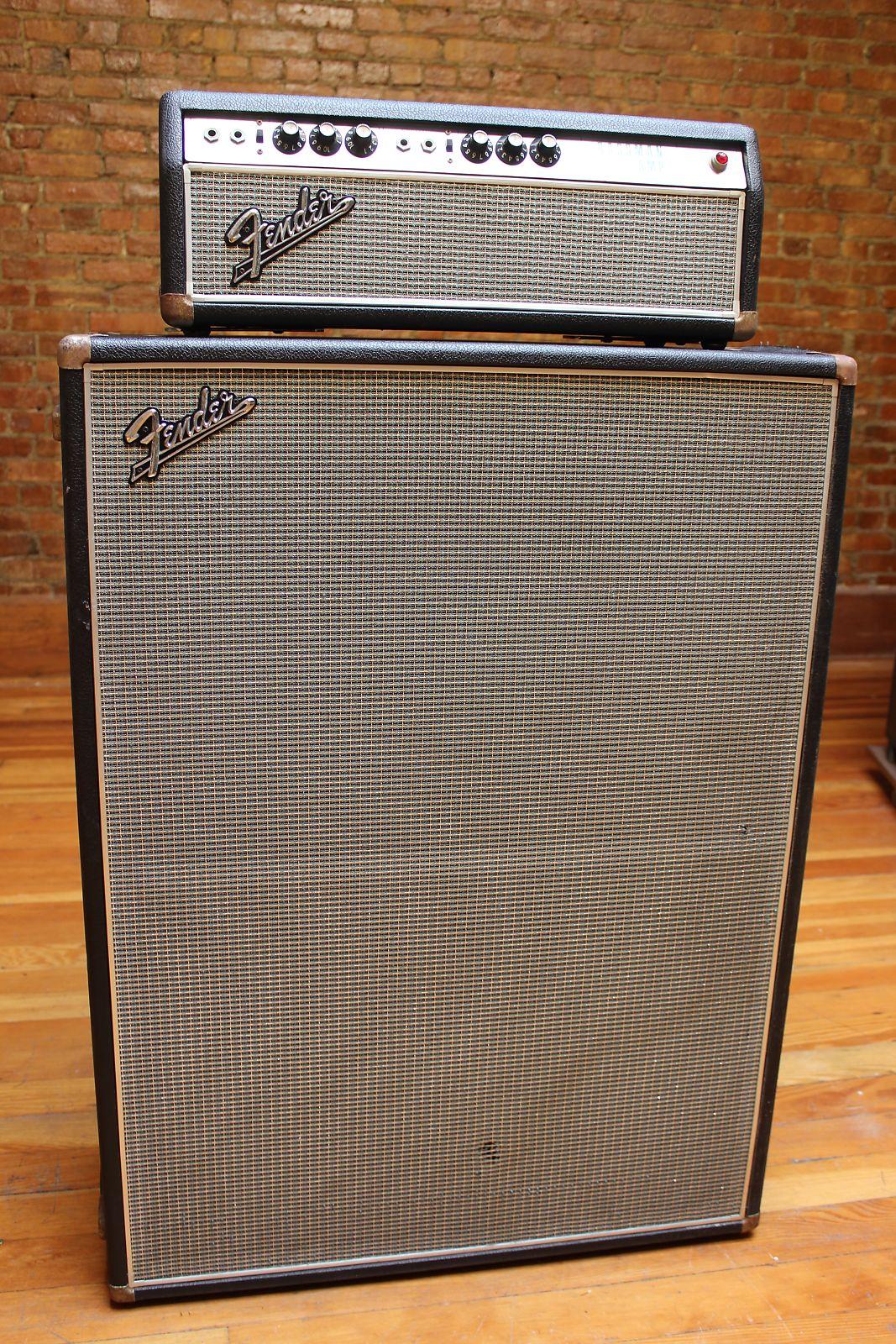 amplifier bass bassman fender watts warrantied in combo cabinet
