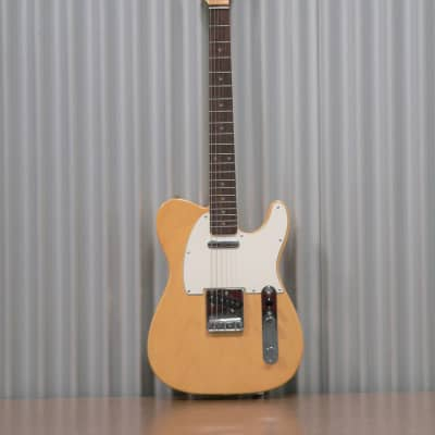 Hayakawa Guitarworks E2020 Ash body  Blond R  Tele Style Guitar with Brown Hard-Shell case.