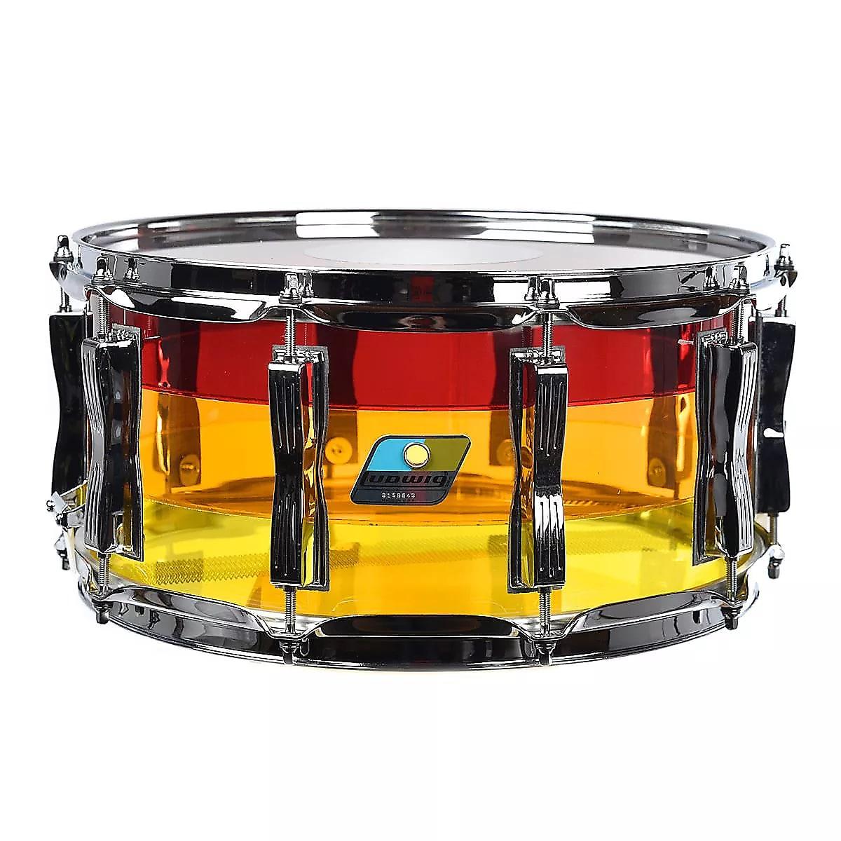 Ludwig Vistalite Tequila Sunrise Pro Beat Kit 14x24/16x18/16x16/9x13 +Matching 6.5x14 Snare+GigBags!