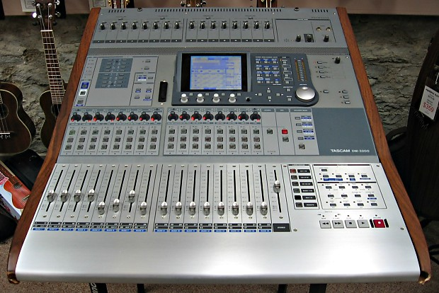 used tascam dm 3200 digital mixer with if fw dm firewire card reverb. Black Bedroom Furniture Sets. Home Design Ideas