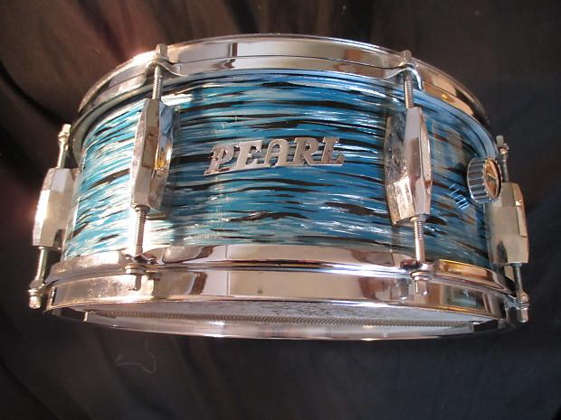 pearl vintage 1960s pearl snare drum blue oyster japan reverb. Black Bedroom Furniture Sets. Home Design Ideas