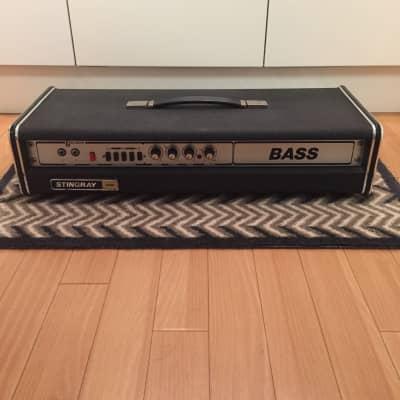 Carlsbro 1977 Stingray Bass Head Black w/ original cover ex Phil Soussan for sale
