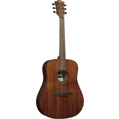 LAG T98D Dreadnought Natural Solid Khaya Acoustic Guitar for sale