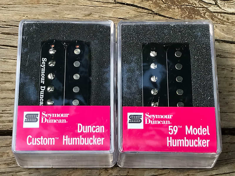 Seymour Duncan SH-5 Custom Bridge /& SH-2N Jazz Neck Pickup Set NICKEL Silver