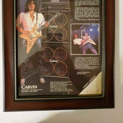 1984 Carvin Amps Promotional Ad Framed Craig Chaquico Jefferson Starship Original