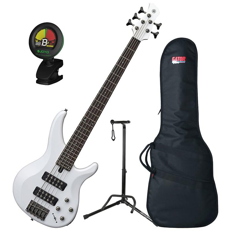 yamaha trbx305 wh 5 string bass bundle geartree reverb. Black Bedroom Furniture Sets. Home Design Ideas