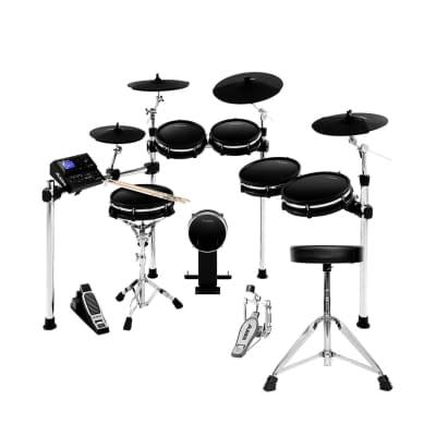 Alesis DM10 MKII Pro Kit Electronic Drum Kit, with Kick Pad, Drum Throne, and Drumsticks