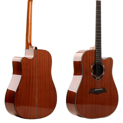 Deviser L-825 Dreadnought Cutaway Acoustic Gloss Natural for sale