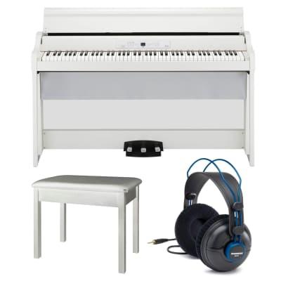 Korg G1 Air  Digital Home Piano 88 Key + Bluetooth (White) + Headphones + Bench