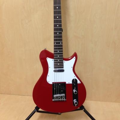 Caraya Ei38 3/4 Size Traveler Series 6 string Electric Guitar,Red-Full Kit for sale
