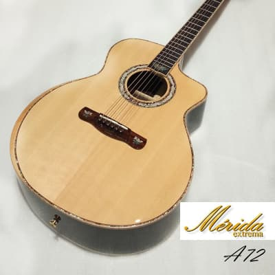 Merida A72CS All Solid Spruce & Indian Rosewood Grand Auditorium cutaway acoustic guitar for sale