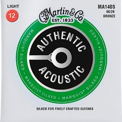 Martin MA140S Marquis 80/20 Bronze Light Authentic Acoustic Silked Guitar Strings