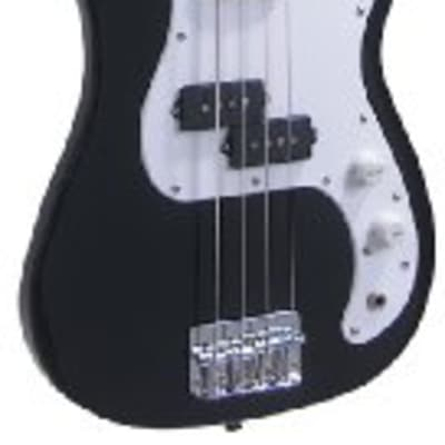 J. Reynolds JR9B Single Cutaway 7/8 Size 4-String Electric Bass Guitar - Black for sale