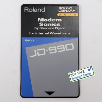 Roland Sound Library JD9D-2 Modern Sonics by Stehphane Pigeon für JD-990