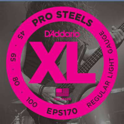 D'Addario EPS170 ProSteels Long Scale Bass Guitar Strings, Light Gauge