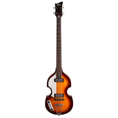 Hofner HOF-HI-BB-L-SB Fully Hollow Body Ignition Violin 4-String  Electric Bass For Left-Handed