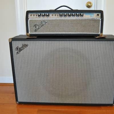 Fender Showman Amp Piggyback 1968 Black Tolex  Cloth