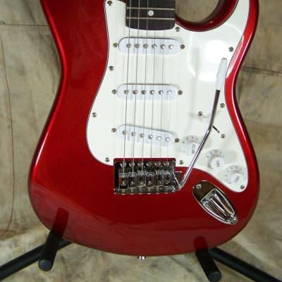 SX-VTG Strat Style Mini Guitar 2010s? Metallic Red