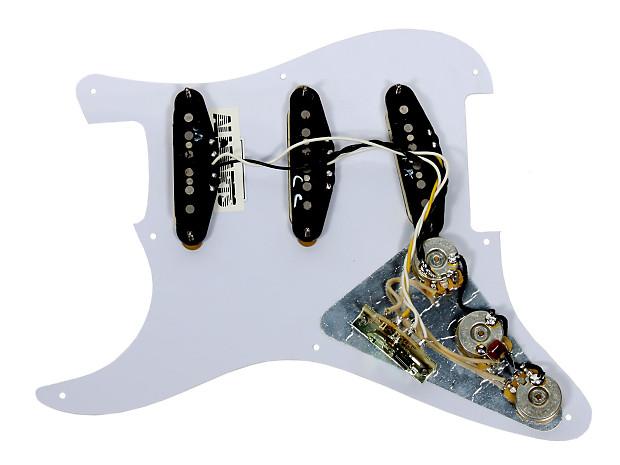 Fender Telecaster Loaded Pickguard Duncan Little 59//Vintage Stack Pickups T3W WH