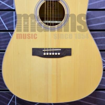 SX Dreadnought Natural Acoustic Guitar for sale