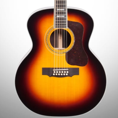 Guild F-512 12-String Acoustic Guitar (with Case), Antique Burst for sale