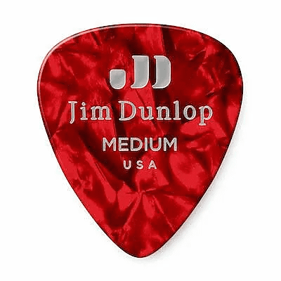 Dunlop 483P09MD Celluloid Standard Classics Medium Guitar Picks (12-Pack)