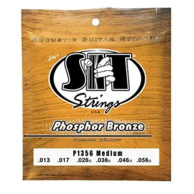 SIT P1356 Phosphor Bronze Acoustic Guitar Strings - Medium (13-56) image