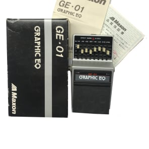 Maxon GE-01, EQ, 7 Band, Made In Japan, 1980s, Original Boxing, Vintage Guitar Effect Pedal for sale