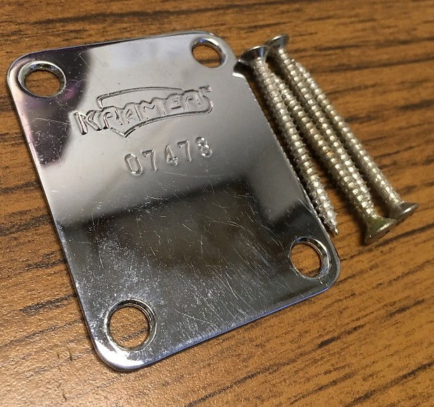 Kramer Vintage Focus Neck Plate 80s Chrome 262854874295